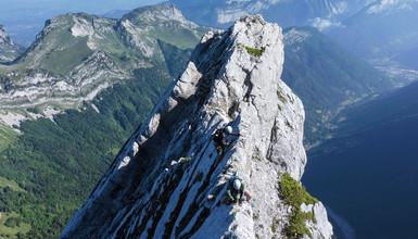 La Tournette by the Pierre Chatelard ridge