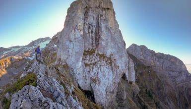 Huge alpine ridge  trip to the Tournette