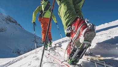 Ski touring marked routes in the Aravis Range